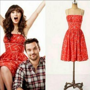 Anthropologie Atomic Red Dress - Size 2
